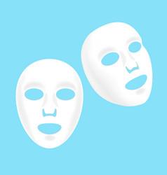 cosmetic facial sheet mask set vector image