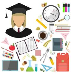 flat of school vector image