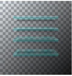 modern flass shelfs set on transparent vector image