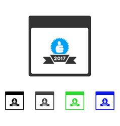 2017 award ribbon calendar page flat icon vector