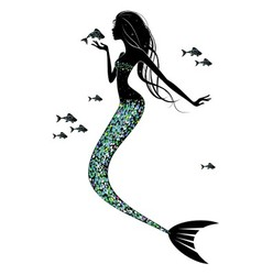 A mermaid silhouette vector