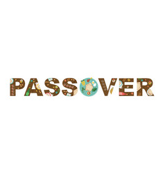 Abstract passover with seder plate in middles vector