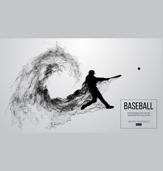 Abstract silhouette a baseball player batter vector