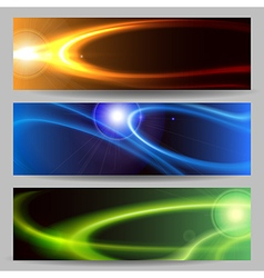 Abstract space banner set vector