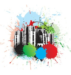 Abstract urban city vector