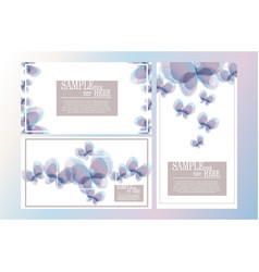 Abstract watercolor butterfly template set ii vector