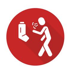 Allergic asthma flat design long shadow glyph icon vector