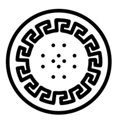 Ancient style biscuit icon outline style vector