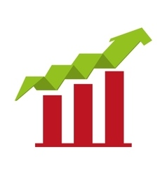 arrow growth up icon vector image