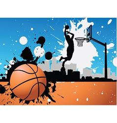 Artistic basketball vector