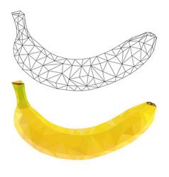 banana polygonal vector image
