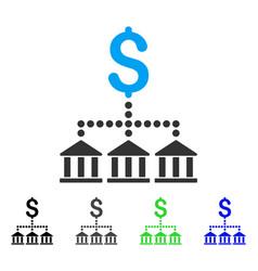 Bank scheme flat icon vector