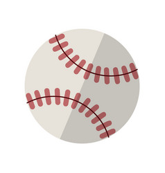 baseball isolated on white with clipping path vector image