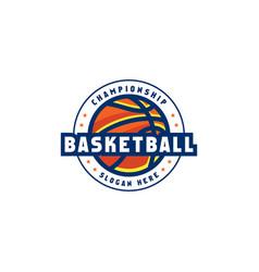 Basketball logo emblem design vector