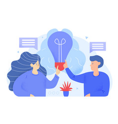 brainstorming searching for new ideas solutions vector image