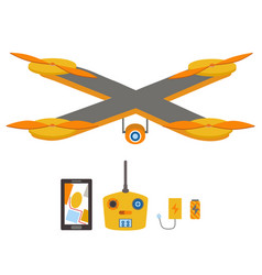 Bright quadrocopter remote control navigation vector