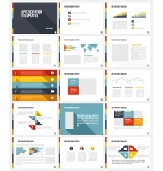 Business Template brochure vector