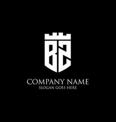Bz initial shield logo design inspiration crown vector