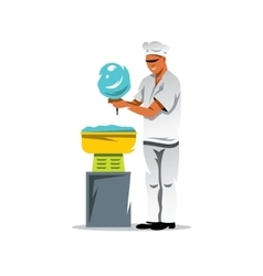 Candy floss chef Cartoon vector