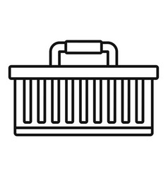 car tool box icon outline style vector image