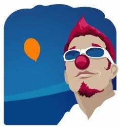 Carnival clown vector