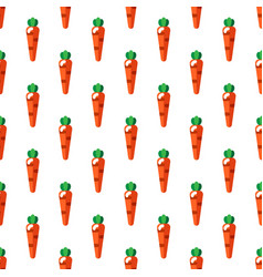 cartoon cute carrots on white background seamless vector image