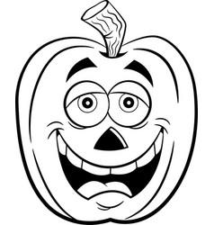 Cartoon happy smiling jack o lantern vector