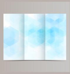 clean minimal tri-fold brochure flyer leaflet vector image