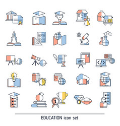 collection education icons collection education vector image
