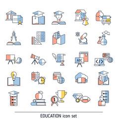 collection education icons collection education vector image
