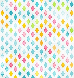 colored diamond seamless pattern vector image