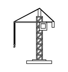 Construction crane icon image vector