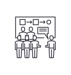 Customer segmentation line icon concept customer vector