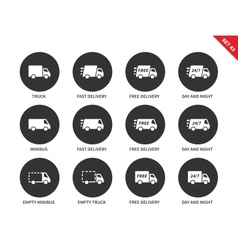 Delivery icons on white background vector image
