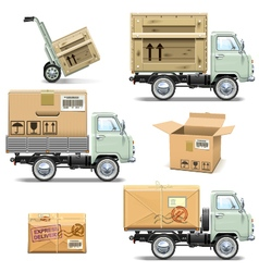 Delivery Retro Light Truck vector image