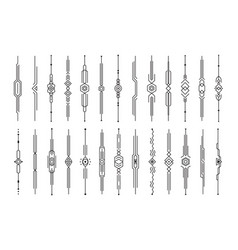 Dividers collection vertical decorative lines vector