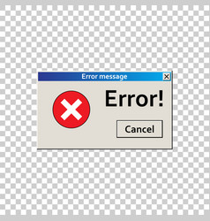 Error warning message user interface window virus vector