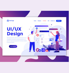 Flat modern design of website template - ui design vector