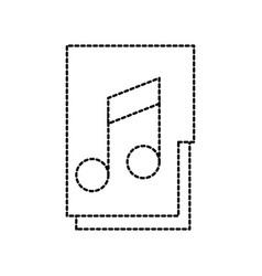 folder file music song archive system online vector image