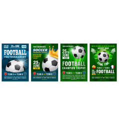 football poster set vector image