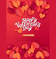 for valentines day hearts carved vector image