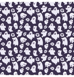 Ghost characters pattern vector image