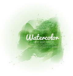 Green watercolor abstract background vector