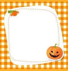 Greeting card with cute pumpkin greeting card vector