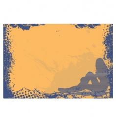 grunge girl frame vector image