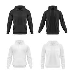 Hoodie sweatshirt mockup teen fashion vector