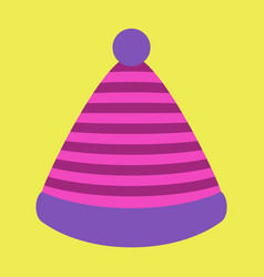 icon in flat design fashion striped hat vector image