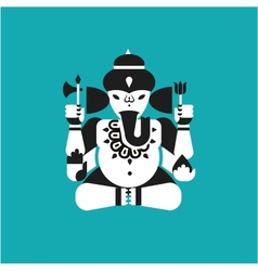 Indian elephant god Ganesha vector image