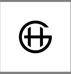 initials gh logo templateletter gh vector image