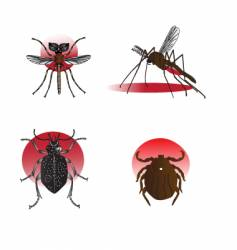 insect elements vector image
